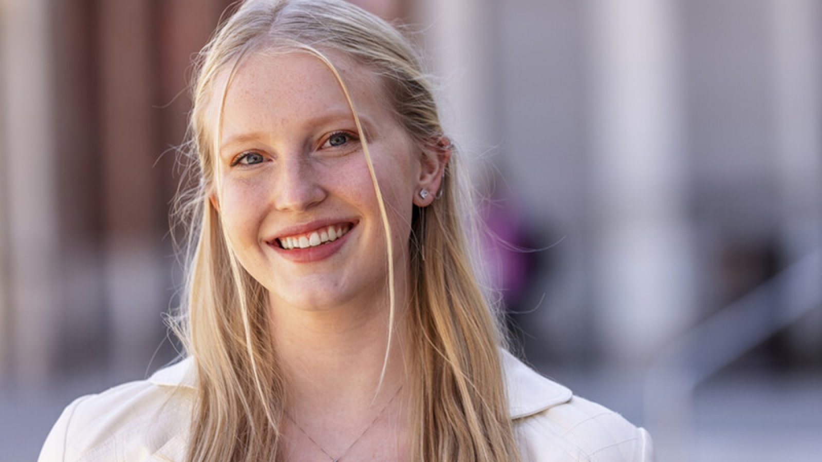 Inspired by her mother and other women in STEM fields, first-year Husker Nicole Livingston is pursuing studies in software engineering. (Craig Chandler / University Communication)