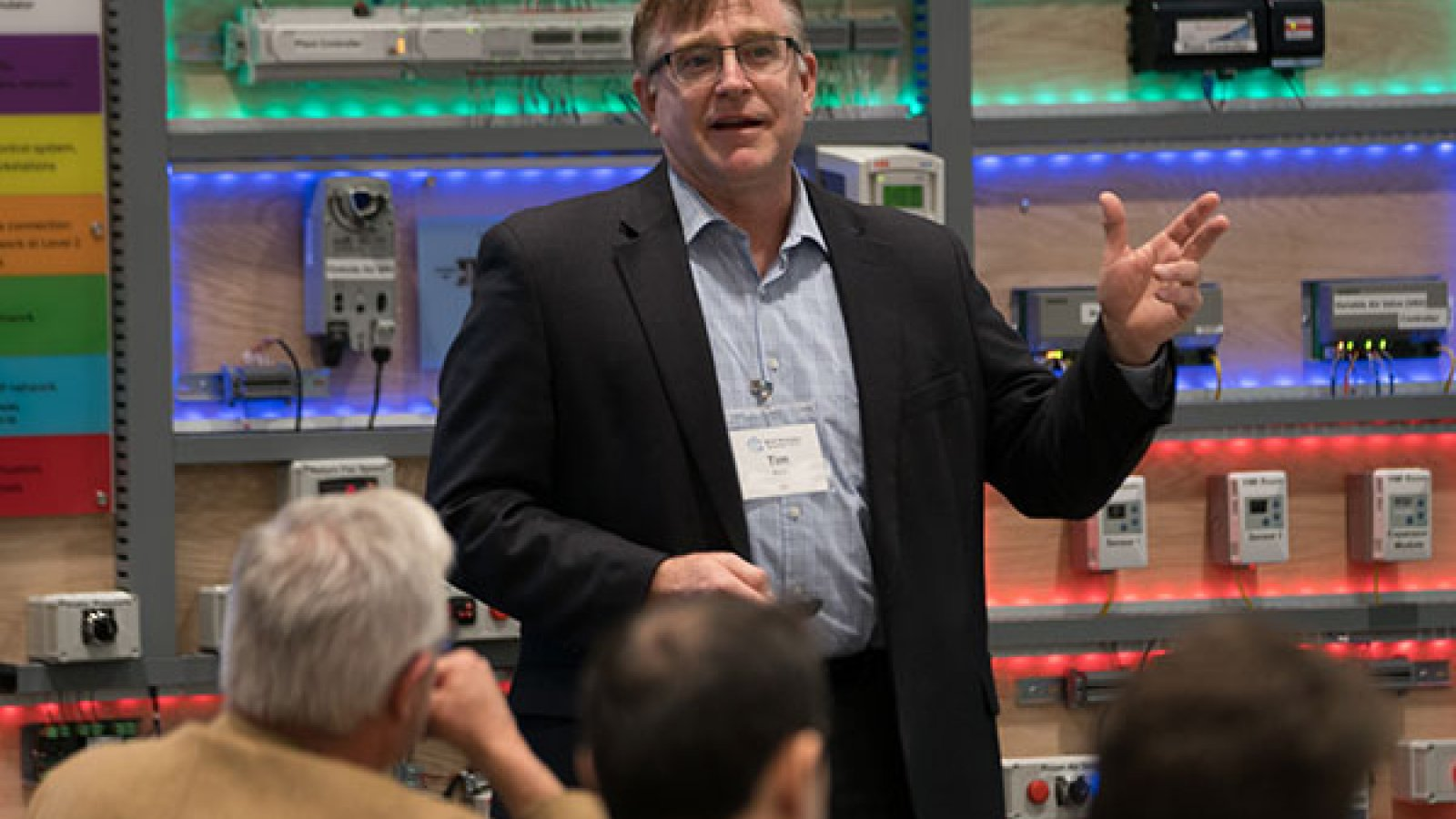 """Timothy Koch, vice president and engineering principal at HDR Inc., discusses """"Industry Challenges - Design, Construction and Operation of SBIoT Systems"""" during the Smart Building and Internet of Things workshop on Nov. 9 at Scott Conference Center."""