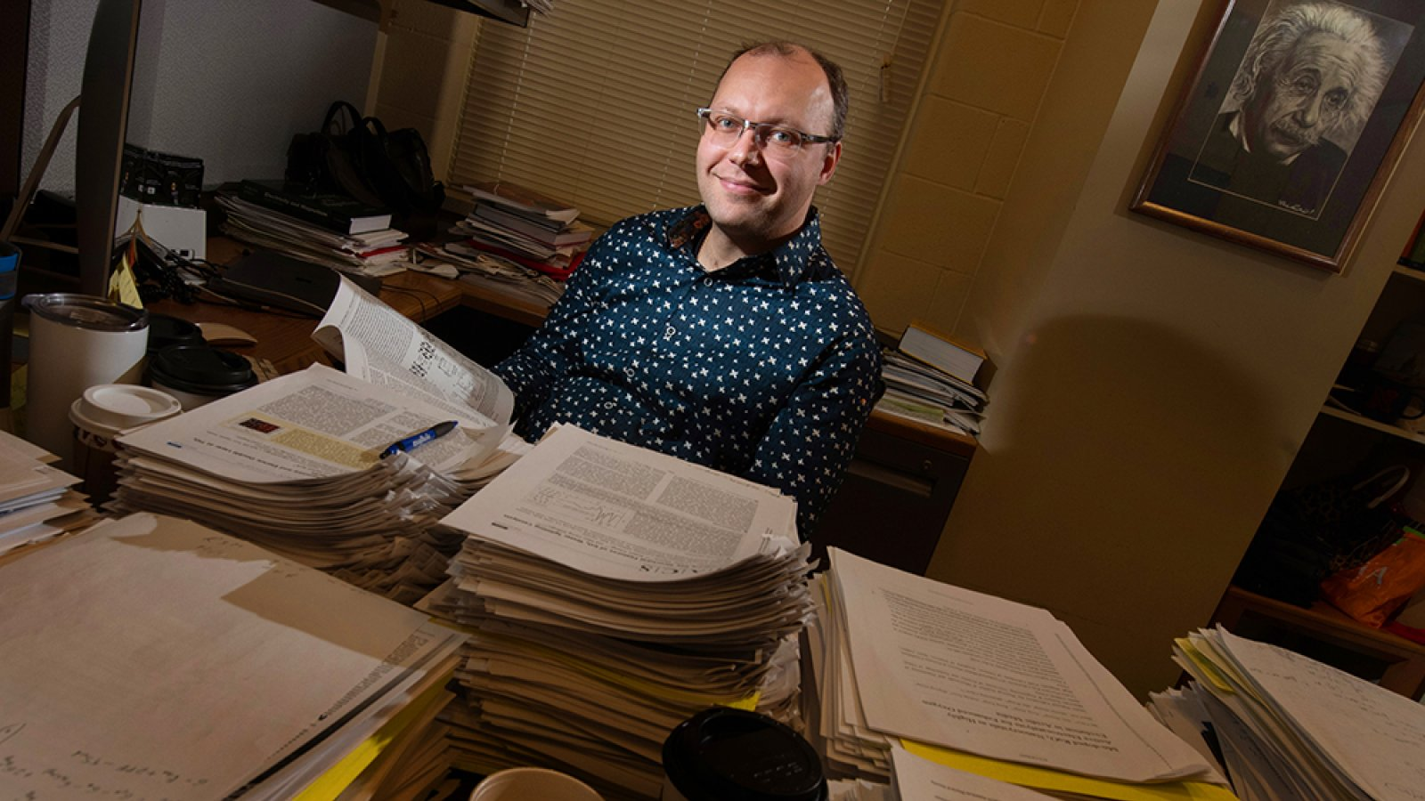 Vitaly Alexandrov, assistant professor of chemical and biomolecular engineering at Nebraska, has received a $520,244 Early Career Development Program award from the National Science Foundation to advance basic understanding of how nanocrystals dissolve in aqueous environments. (University Communication photo)