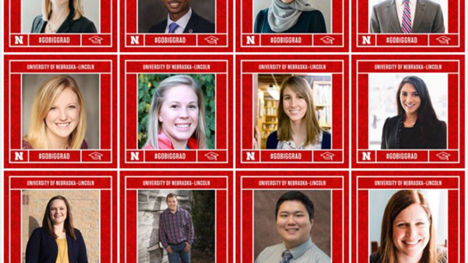 The University of Nebraska-Lincoln has featured 50 of its fall graduates on the university's Facebook page.
