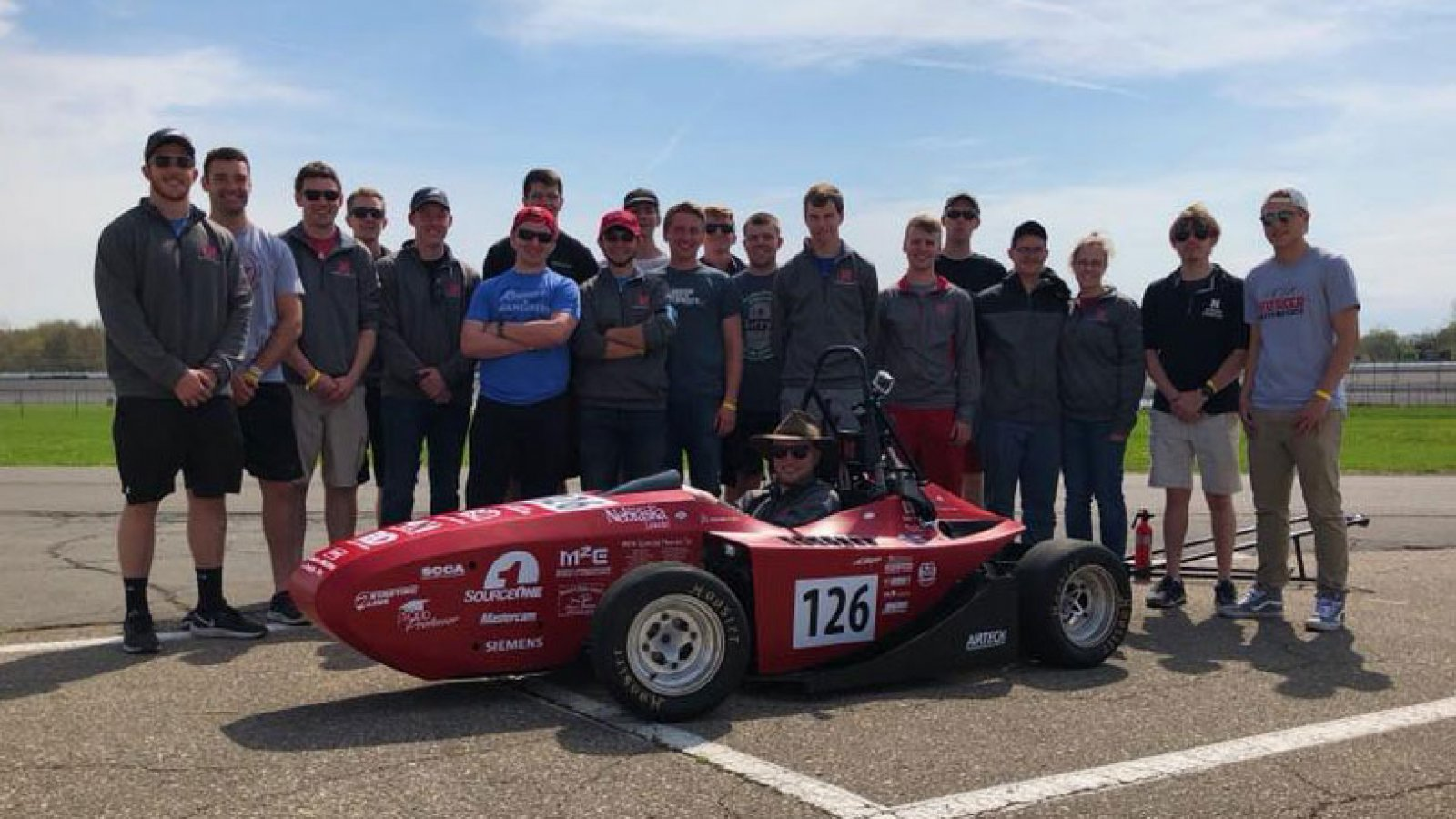 2018 Husker Motorsports Team and their vehicle