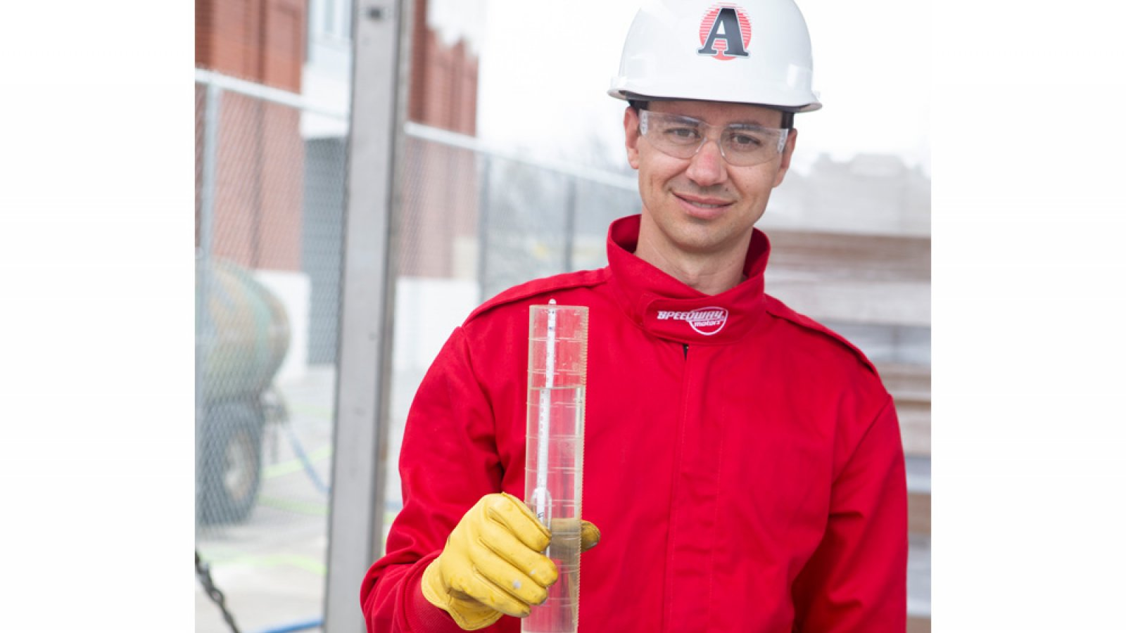 Hunter Flodman, assistant professor of practice in chemical and biomolecular engineering, is a leader in a partnership between the University, the State of Nebraska and the ethanol industry, to manufacture hand sanitizer for healthcare workers during the COVID-19 crisis. (Nebraska Ethanol Board photo)
