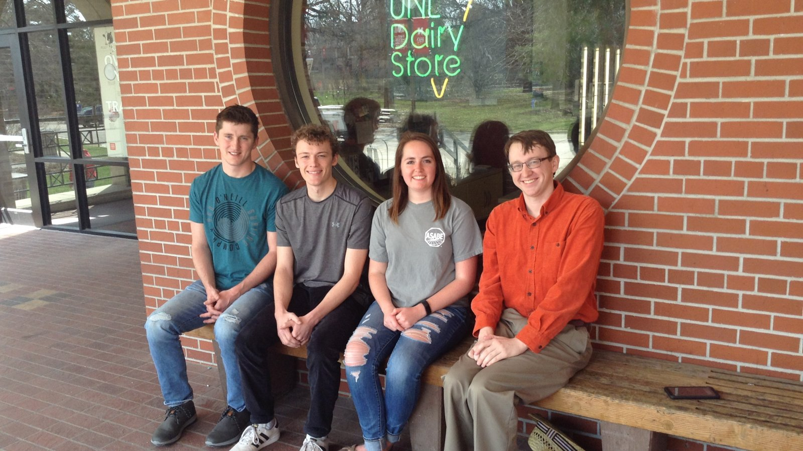 Dairy Plant Relocation team (from left) is Luke Burbach, Justin Brinkman, Meredith Johnson and Loren Steinman.
