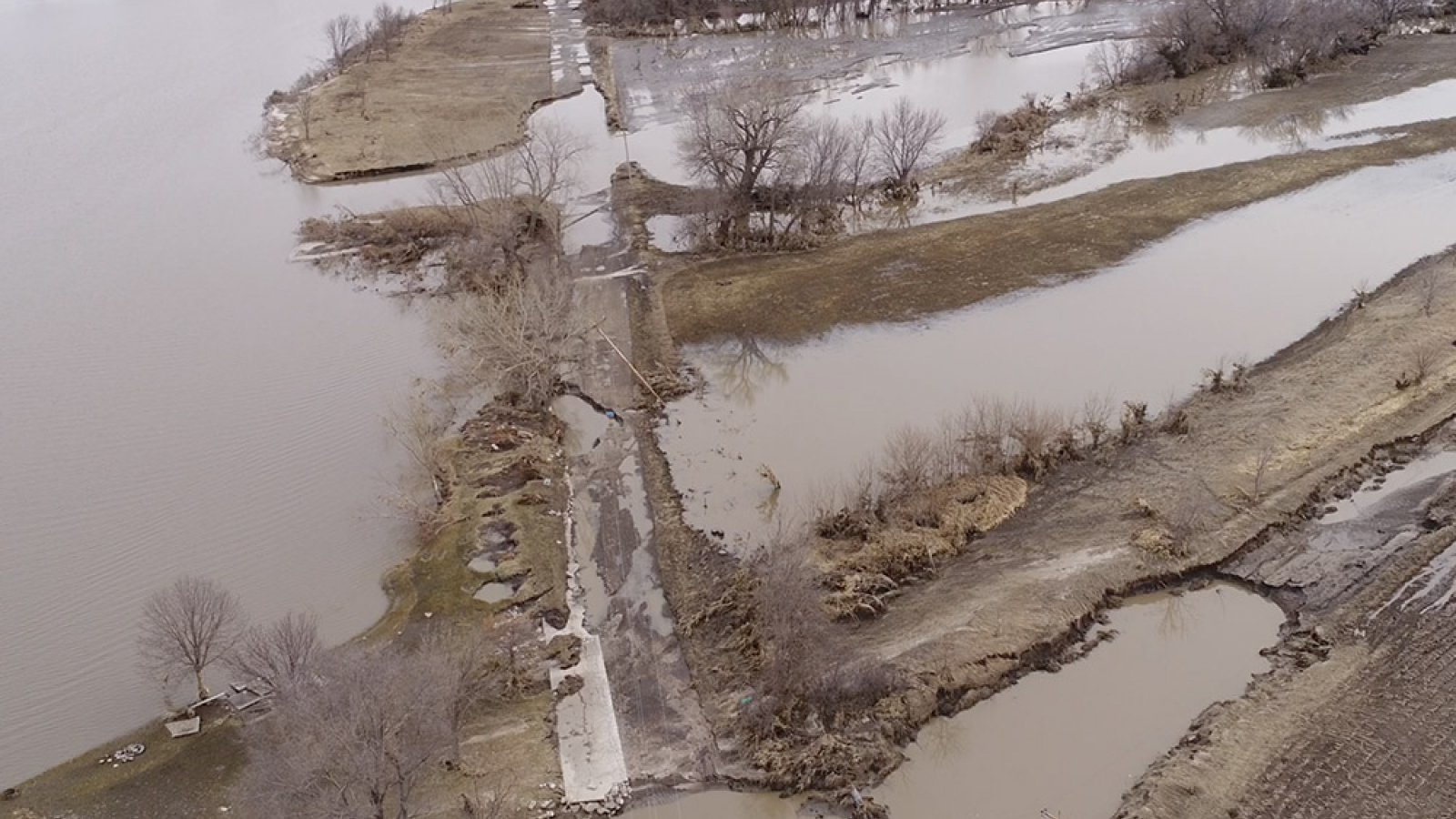 In March 2019, flooding along the Loup River between Genoa and Monroe wiped out roads and left some homes surrounded by water.
