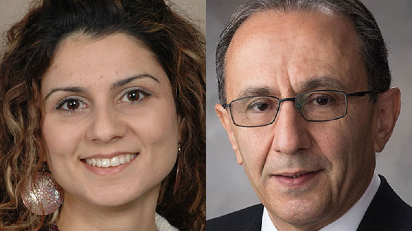 Ece Erdogmus, professor of architectural engineering and associate director of The Durham School of Architectural Engineering and Construction; and Hossein Noureddini, professor and chair of chemical and biomolecular engineering.
