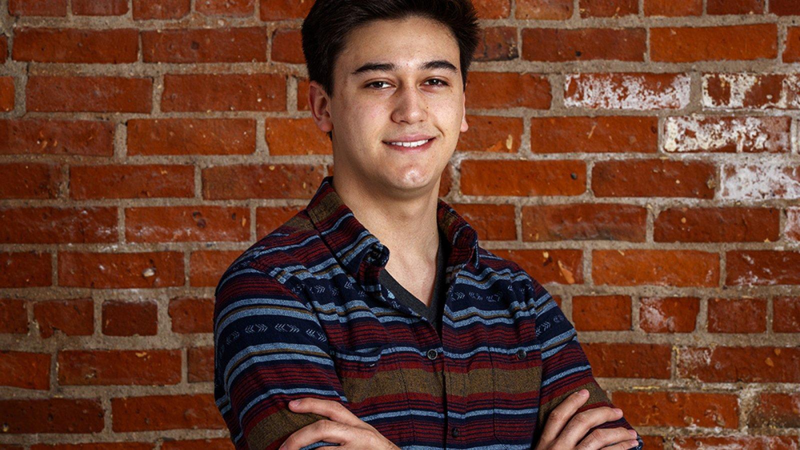 Brandon Ramos, a senior in computer engineering.