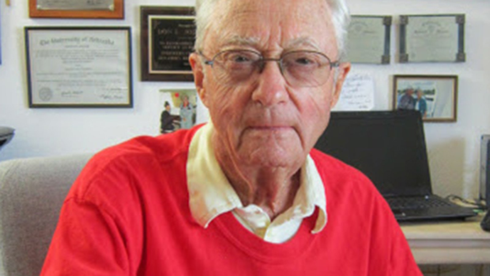 Don Johnson, professor emeritus of mechanical and materials engineering, received a University of Nebraska-Lincoln Emeriti and Retirees Association research award for his work on the USS Arizona, which was sunk during the raid on Pearl Harbor in 1941.