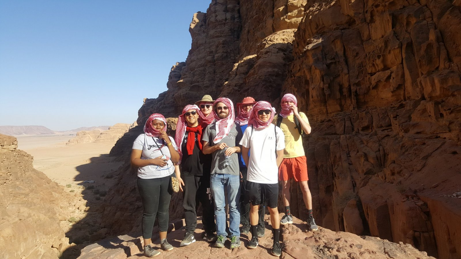 In addition to learning dynamic programming problem-solving strategies at Princess Sumaya University for Technology, the five Nebraska students also visited local world heritage sites and participated in cultural workshops. (Photo from Tareq Daher)