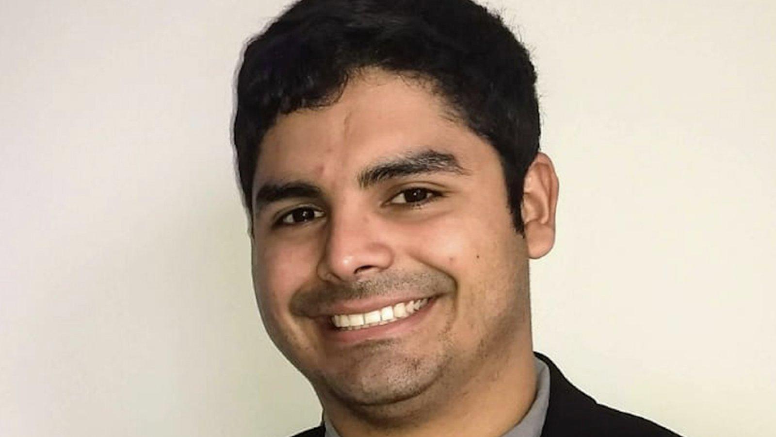 Ricardo Jacome, graduate student in mechanical engineering.