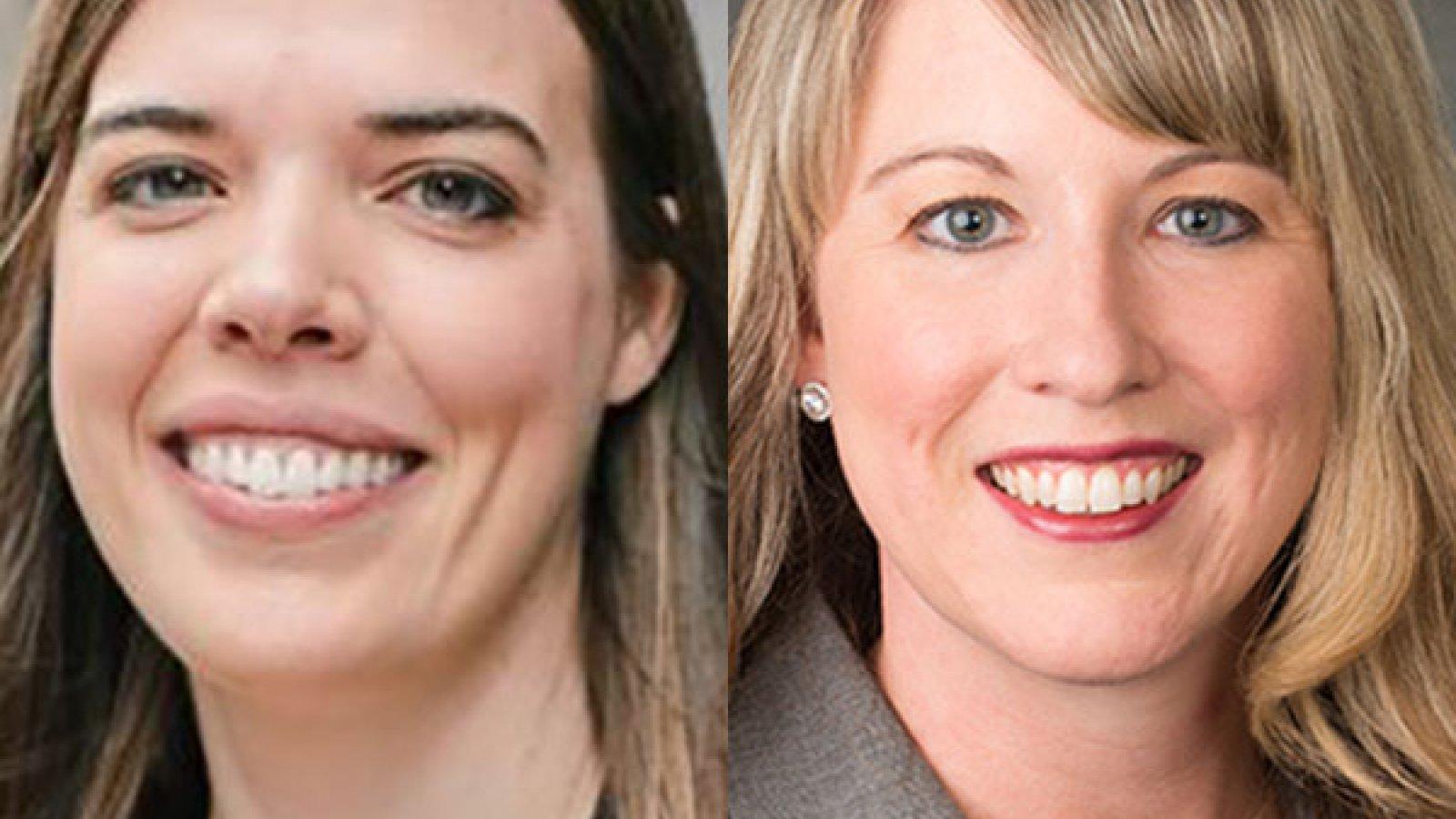 Durham School faculty Lauren Ronsse (left), industry fellow, and Erica Ryherd, associate professor of architectural engineering.