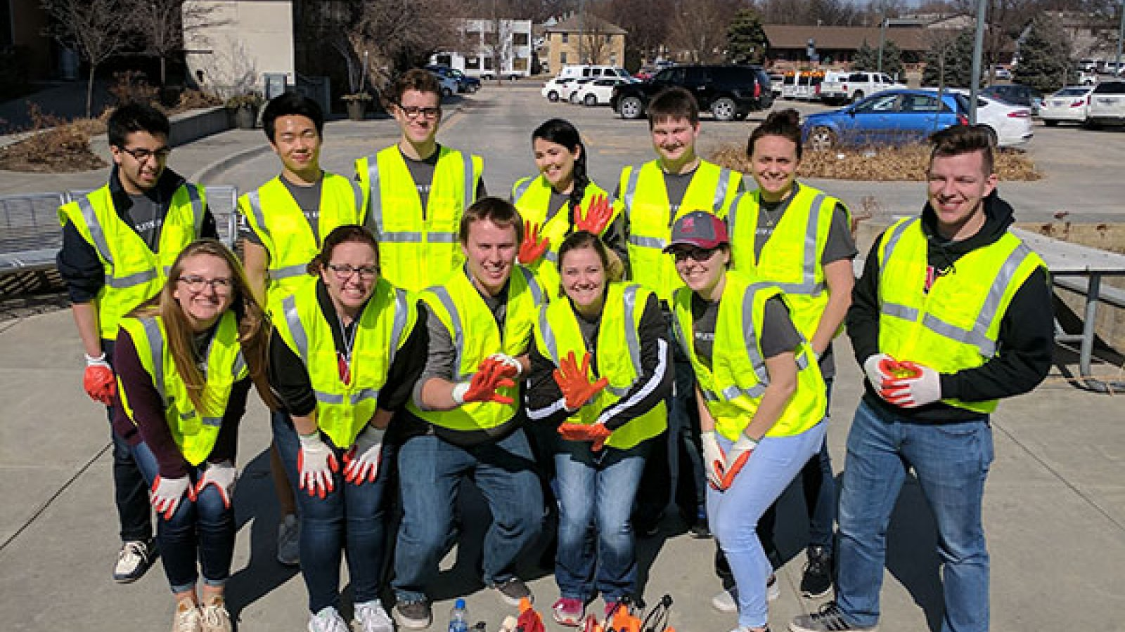 Engineering students took part in community service projects on Saturday, March 3 as part of the Complete Engineer Conference.