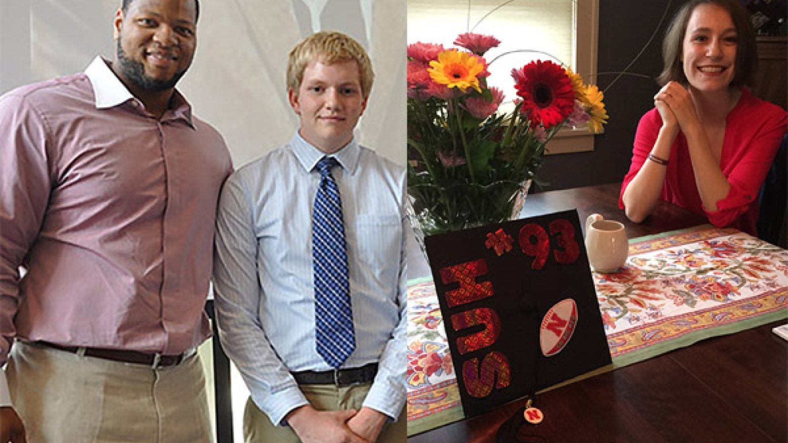 NFL star Ndamukong Suh, a former Husker football player and a Nebraska Engineering construction management alumnus, has helped recent graduates Matt Stier and Brynne Schwabauer with not only a scholarship but also a mentoring relationship.
