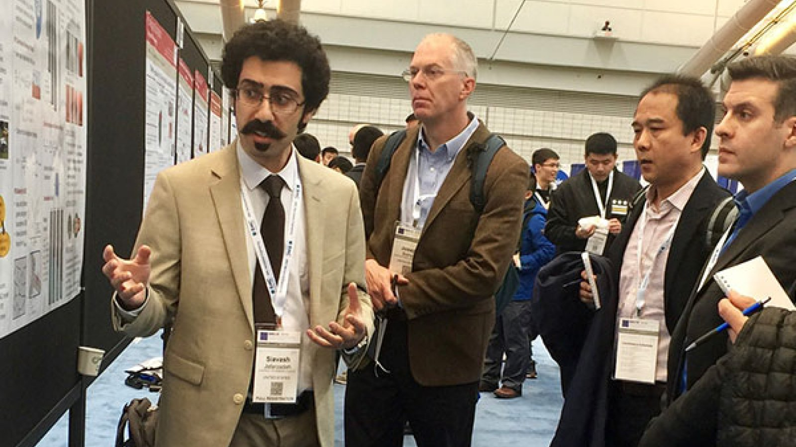 Siavash Jafarzadeh, Ph.D. student in Mechanical Engineering and Applied Mechanics, presented his research on Peridynamic Modeling of Intergranular Corrosion Damage at the American Society of Mechanical Engineers: International Mechanical Engineering Congress & Exposition in Pittsburgh, Pennsylvania, in early November.